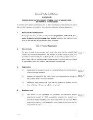 Universiti Tunku Abdul Rahman Regulation II COURSE ...