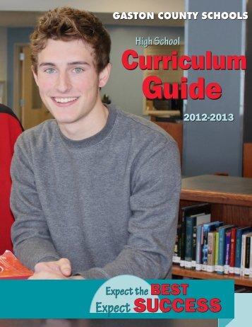 High School Curriculum Guide - Gaston County Schools