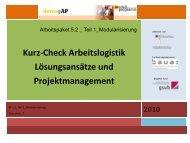 Lösungsansätze Projektmanagement