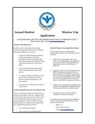 Annual Student Mission Trip Application - Bon Secours Richmond ...
