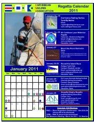 The Caribbean Sailing Association 2011 CSA Regatta Calendar