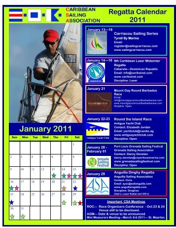 The Caribbean Sailing Association 2011 CSA Regatta Calendar
