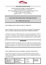 liste des decisions des marches signes du mois de ... - Vendée Habitat