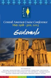 FCCA Central America Cruise Conference - The Florida-Caribbean ...