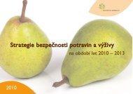 Strategie bezpečnosti potravin a výživy - Informační centrum ...