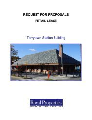 REQUEST FOR PROPOSALS Tarrytown Station Building - Royal ...