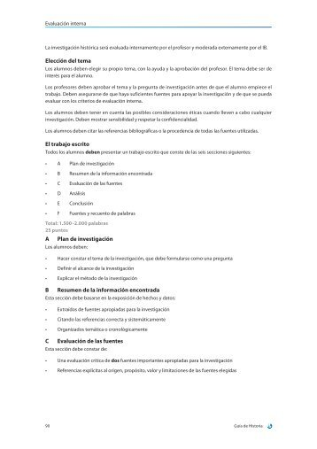 Elección del tema El trabajo escrito A Plan de investigación B ...