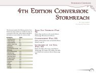 Revised City of Stormreach Material