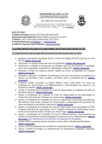 Relatório Anual de Gestão 2012 – Completo - Universidade Federal ...