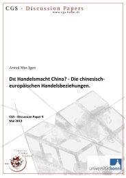DIE Handelsmacht China? - Die chinesisch ... - Cgs-bonn.de