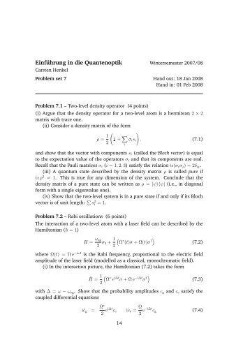 Einführung in die Quantenoptik