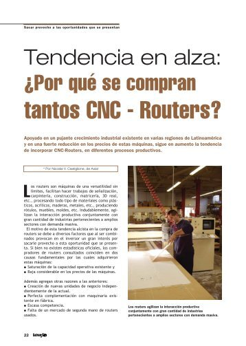 Por qué se compran tantos CNC - Routers? - Revista Letreros