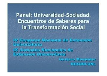 Gustavo Menéndez. REXUNI-UNL - Universidad Nacional de Cuyo