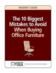 The 10 Biggest Mistakes to Avoid When Buying Office Furniture