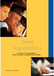 Great Expectations (Rev 10/03) - Alabama Department of Education