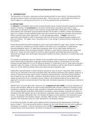 Monitoring Evaluation Summary - ADE Special Education