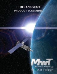 hi-rel and space product screening - MicroWave Technology, Inc.