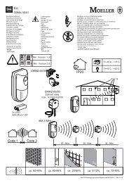 CBMA-02/01 868,3 MHz ca. 60-90% ca. 80-95% ca. 20-60 ... - Moeller