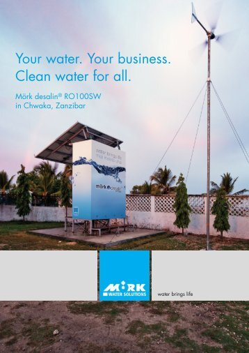 Your water. Your business. Clean water for all. - Mörk Water Solutions