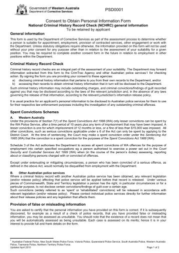 PSD0001 Consent to Obtain Personal Information ... - Health Sciences