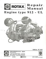 looking after your rotax 912 series engine - ConAir Sports Ltd
