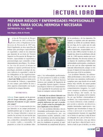 prevenir riesgos y enfermedades profesionales es una tarea social ...