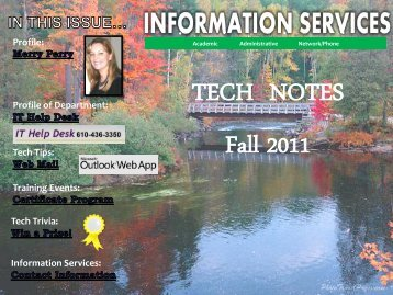Information Services Fall 2011 Newsletter - West Chester University