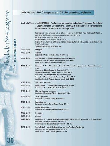 Atividades Pré-Congresso - 66 Congresso Brasileiro de Cardiologia