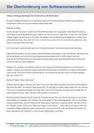 Die Überforderung der Software-Anwender - Fluctus IT GmbH