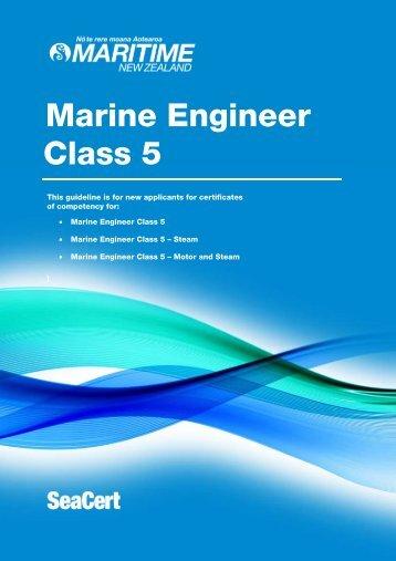 Marine engineer (class 5) - Maritime New Zealand