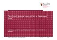 Natura 2000 - Waldbesitzerverband für Rheinland-Pfalz