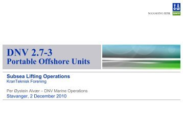 DNV 2.7-3 Portable Offshore Units - Kranteknisk Forening