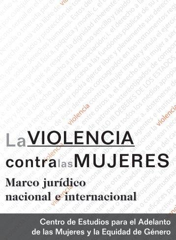 La Violencia contra las Mujeres. Marco jurídico nacional e ...