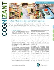 Retail Mobility: Consumers in Control - Cognizant