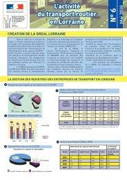 L'activité du transport routier en Lorraine N°6 - DREAL Lorraine