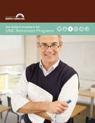 Guide to Investing in the UNC Retirement Programs - University of ...