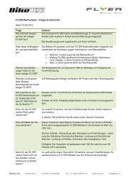 FLYER Werkverkauf – Fragen & Antworten Stand 14.09.2012 Frage ...
