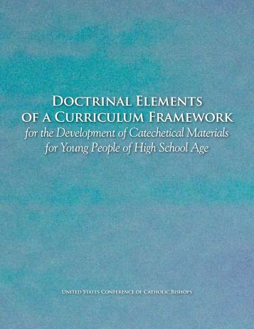 Doctrinal Elements of a Curriculum Framework (PDF)