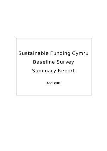 Funding Survey, April 2008 - WCVA