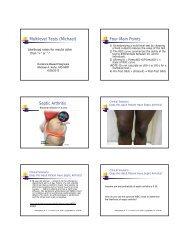 Multilevel Tests (Michael) Four Main Points Septic Arthritis
