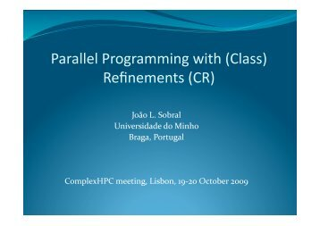 Parallel programming refinements for heterogeneous multi-core ...