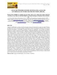 ciclo do fósforo em dois sistemas de lagoas de estabilização no rio ...