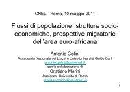 Flussi di popolazione, strutture socio- economiche ... - West