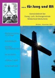 … für Jung und Alt - Kirchengemeinde Wildenheid-Meilschnitz