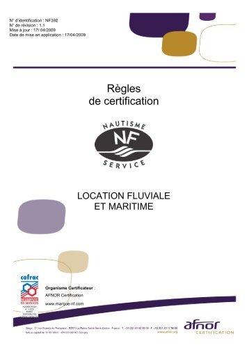 Téléchargez les règles de certification NF392 - Marque NF