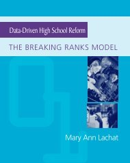 Data-Driven High School Reform - The Education Alliance at Brown ...