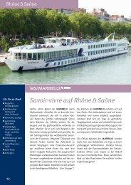 Savoir-vivre auf Rhône & Saône