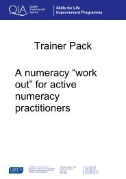 Trainer Pack A numeracy - Excellence Gateway