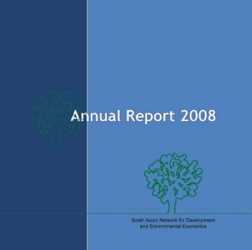 Annual Report 2008 - South Asian Network for Development and ...