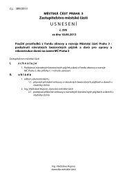 Usnesení č. 395 ze dne 18.06.2013 - Praha 3